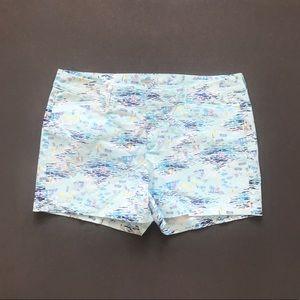 Old Navy Island Print Blue Pixie Shorts